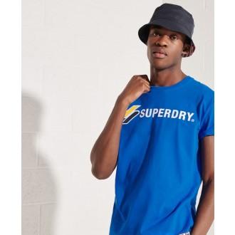 Superdry pánské triko Sportstyle Applique - Modrá