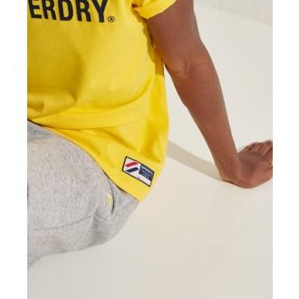 Superdry pánské triko Sportstyle Applique - Žlutá
