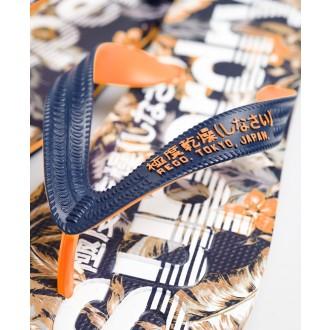 Superdry pánské žabky Scuba All Over Print - Tmavěmodrá