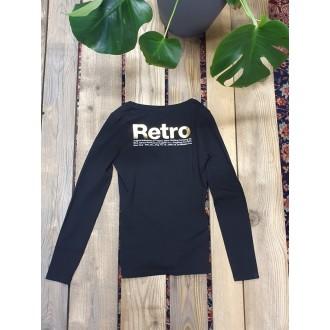 Retrojeans dámské triko s dlouhými rukávy ARIANA LONG - Černá