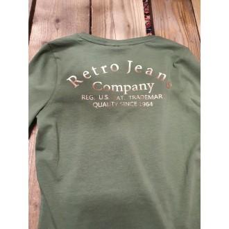 Retrojeans dámské triko s dlouhými rukávy LEILANI LONG - Kaki