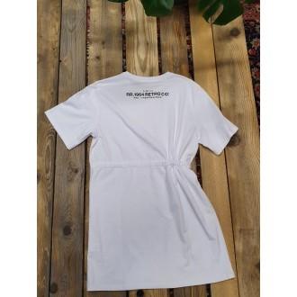 Retrojeans dámské šaty Etta - Bílá