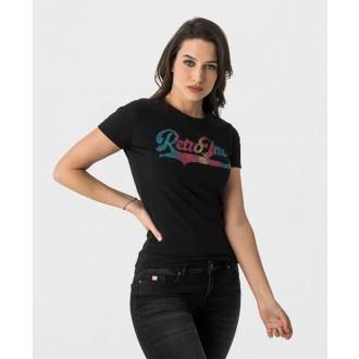 Retrojeans dámské triko LOUISE - Černá