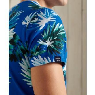 Superdry pánské triko Vintage Logo All Over Print - Modrá