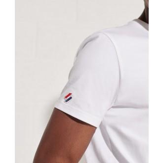 Superdry pánské triko Sportstyle Chenille - Bílá