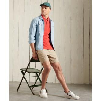 Superdry pánské triko Vintage Destroyed Polo - Červená