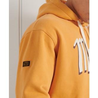 Superdry pánska mikina Workwear - Oranžová