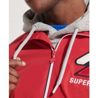 Superdry pánská bunda Track Cagoule - Červená