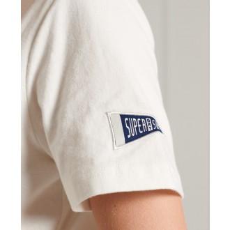 Superdry dámské triko Collegiate Athletic Union - Krémová