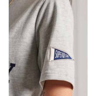 Superdry dámské triko Collegiate Athletic Union - Šedá