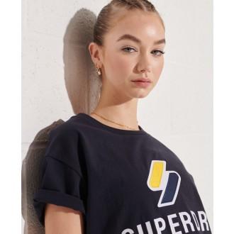 Superdry dámské triko Sportstyle Classi - Tmavěmodrá