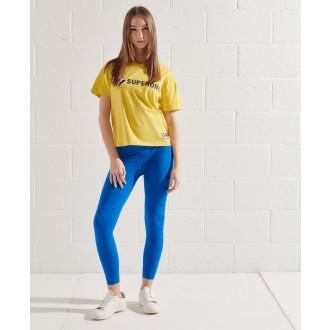 Superdry dámské triko Sportstyle Graphic Boxy - Žlutá