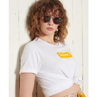 Superdry dámské triko Core Logo Workwear - Bílá