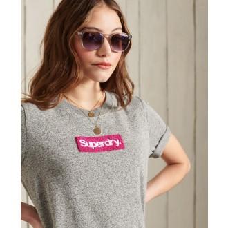Superdry dámské triko Core Logo Workwear - Šedá