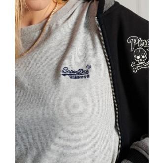 Superdry dámské triko Organic Cotton Classic - Světle šedá