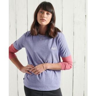 Superdry dámské triko Organic Cotton Classic - Fialová