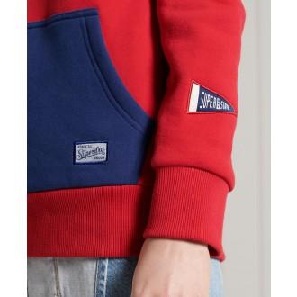 Superdry dámská mikina Vintage Colour Block - Červená