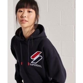 Superdry dámská mikina Sportstyle Chenille - Tmavěmodrá