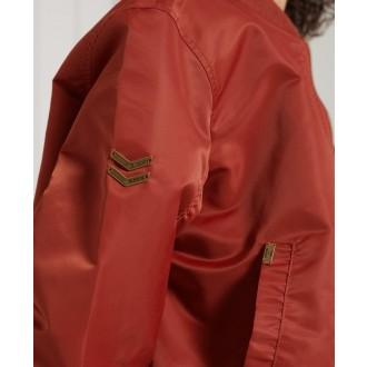 Superdry dámská bunda MA1 Bomber - Červená