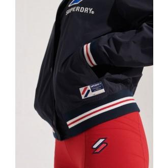 Superdry dámská bunda Varsity Jacket - Tmavěmodrá