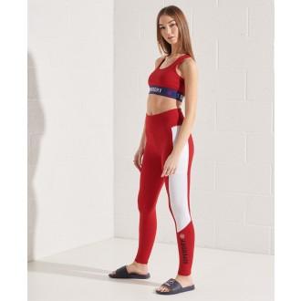 Superdry dámské legíny Active Lifestyle - Červená
