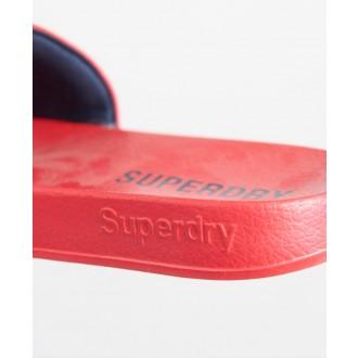 Superdry dámské šlapky Core Pool - Červená