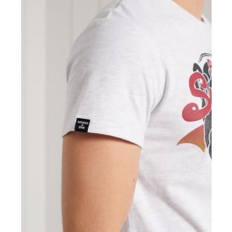 Superdry pánske tričko Standard weight Vintage Logo Itago - Biela