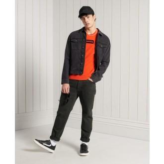 Superdry pánske tričko Core Logo Workwear Standard Weight - Oranžová