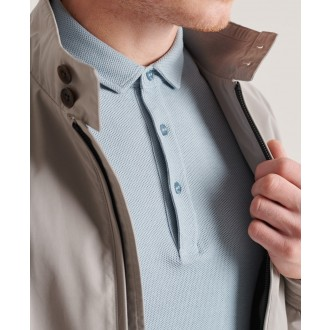 Superdry pánské triko Textured Jersey Polo - Modrá