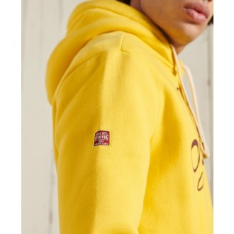 Superdry pánská mikina Collegiate Graphic Overhead - Žlutá