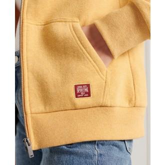 Superdry dámská mikina Vintage Logo Duo Zip - Žlutá