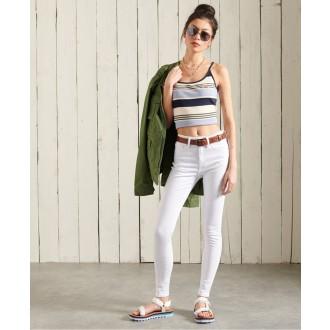 Superdry dámské riflové kalhoty High Rise Skinny Jeans - Bílá