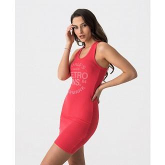 Retrojeans dámské šaty FLOW D 20 - Červená