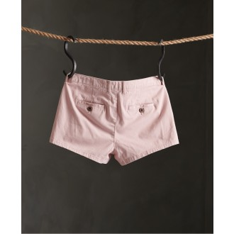 Superdry dámské krátké kalhoty Chino Hot - Růžová