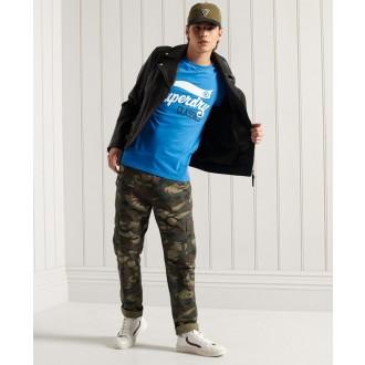 Superdry pánské triko Collegiate Graphic Lightweight - Modrá