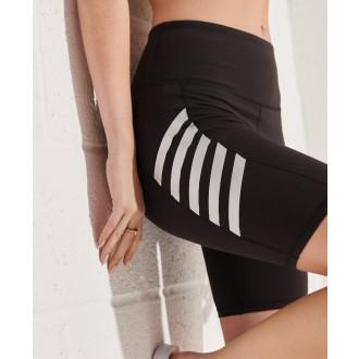 Superdry dámské elastické krátké kalhoty Active Lifestyle Cycle - Černá