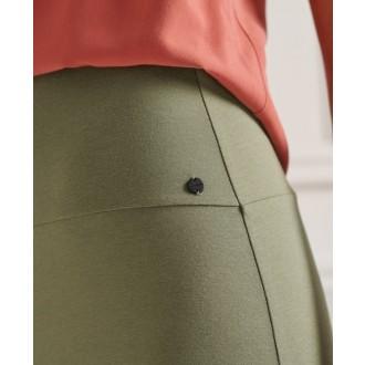 Superdry dámská sukně Classic Jersey Midi - Zelená