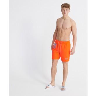 Superdry pánske plavky Waterpolo - Oranžová