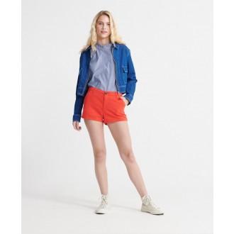 Superdry dámské krátké kalhoty Chino Hot - Červená
