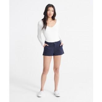 Superdry dámské krátké kalhoty Chino Hot - Tmavěmodrá