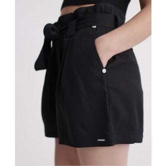 Superdry dámské krátké kalhoty Desert paperbag - Černá