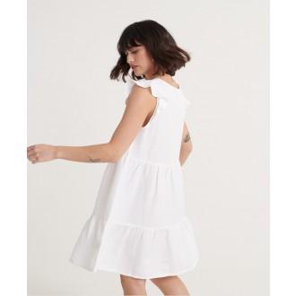 Superdry dámské šaty Tinsley Tiered - Bílá