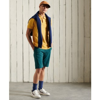 Superdry pánské triko Vintage Destroyed Polo - Žlutá