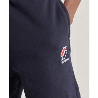 Superdry pánské teplákové kraťasy Sportstyle Essential - Tmavěmodrá