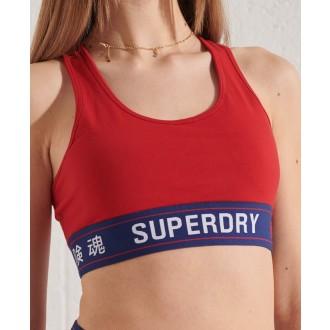 Superdry dámská sportovní podprsenka Sportstyle Essential - Červená