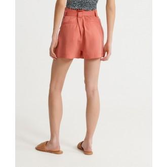 Superdry dámské krátké kalhoty Desert paperbag - Růžová
