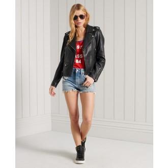 Superdry dámské riflové krátké kalhoty Skinny Hot - Světlemodrá