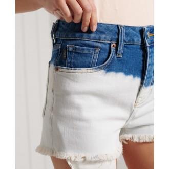 Superdry dámské riflové krátké kalhoty Skinny Hot - Krémová