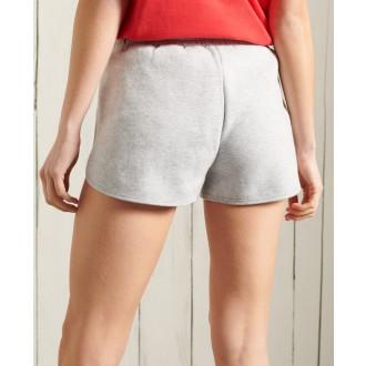 Superdry dámské teplákové krátké kalhoty Vintage Logo Duo - Světle šedá
