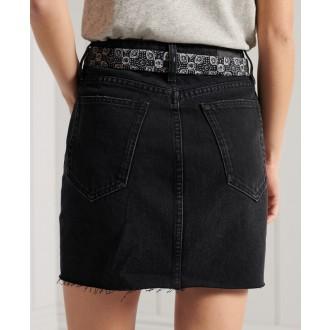 Superdry dámská riflová sukně Denim Mini - Černá